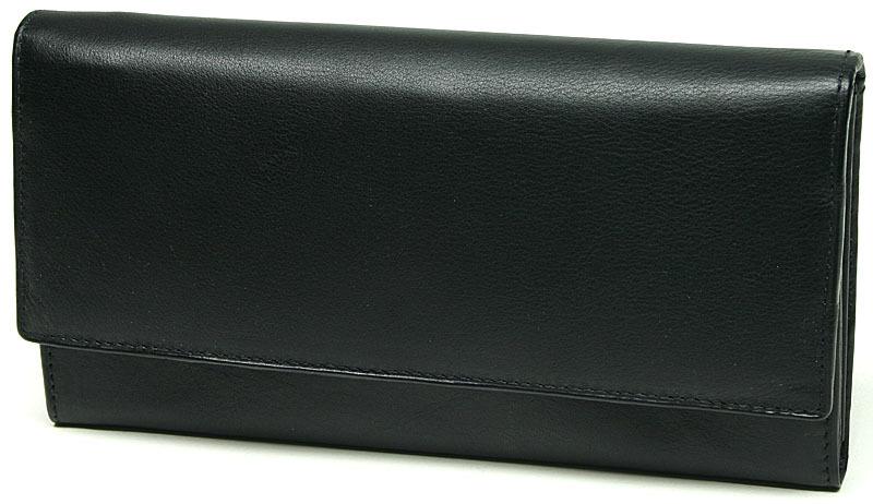 Lagen Dámska čierna kožená peňaženka Black V-40