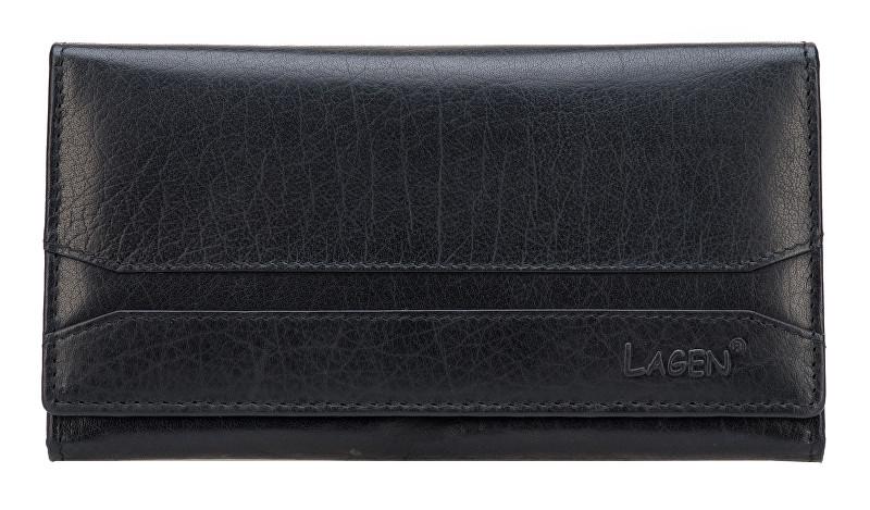 Lagen Dámska čierna kožená peňaženka Black W-2025