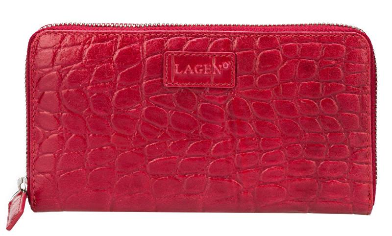 Lagen Dámská červená kožená peněženka Red 11227
