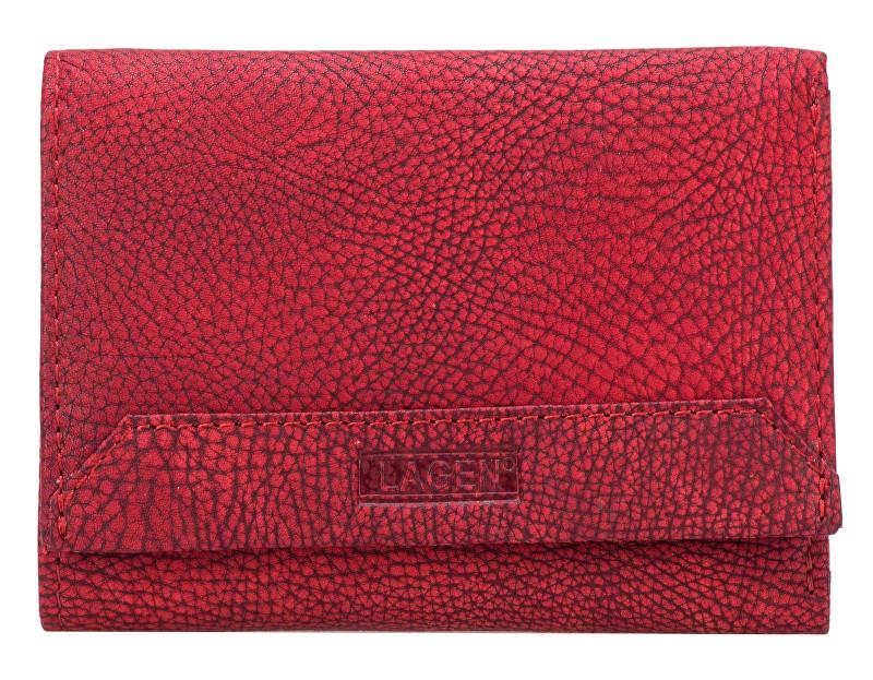Lagen Dámská červená kožená peněženka Red LG-10/W-3