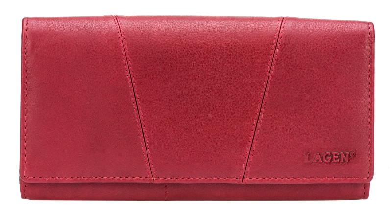 Lagen Dámská červená kožená peněženka Red PWL-388/W-4