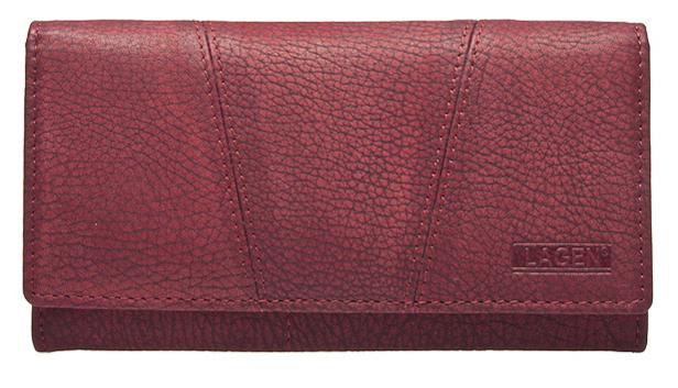 Lagen Dámska červená kožená peňaženka Red PWL-388/W-4