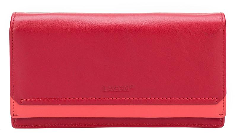 Lagen Dámska červená kožená peňaženka Red R/C 10181