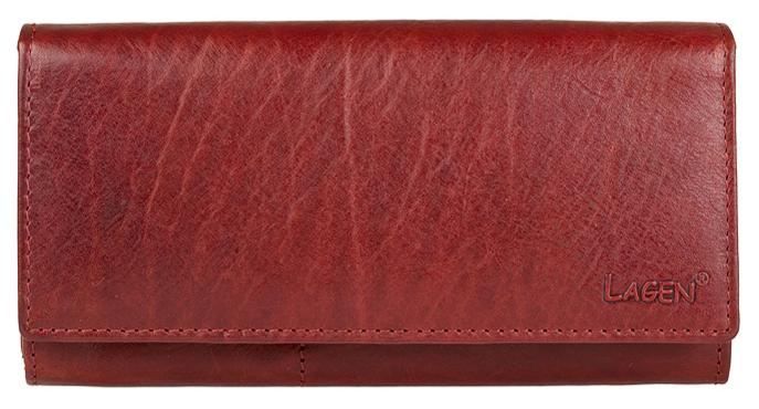 Lagen Dámska červená kožená peňaženka Red V-102/T