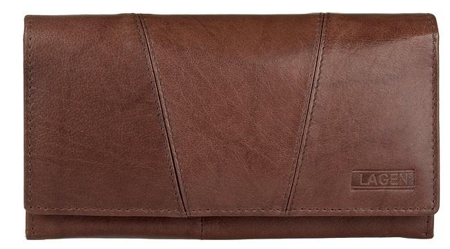 Lagen Dámska hnedá kožená peňaženka Brown PWL-388