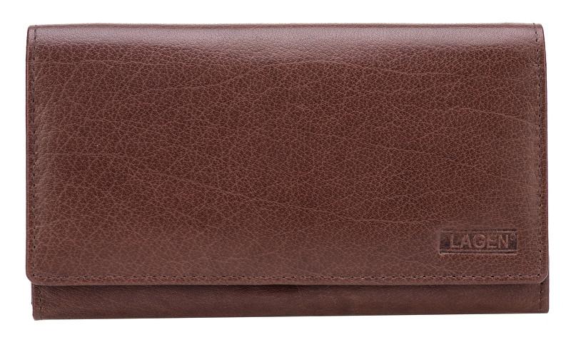 Lagen Dámská hnědá kožená peněženka Brown V-62 b5a3b73f90