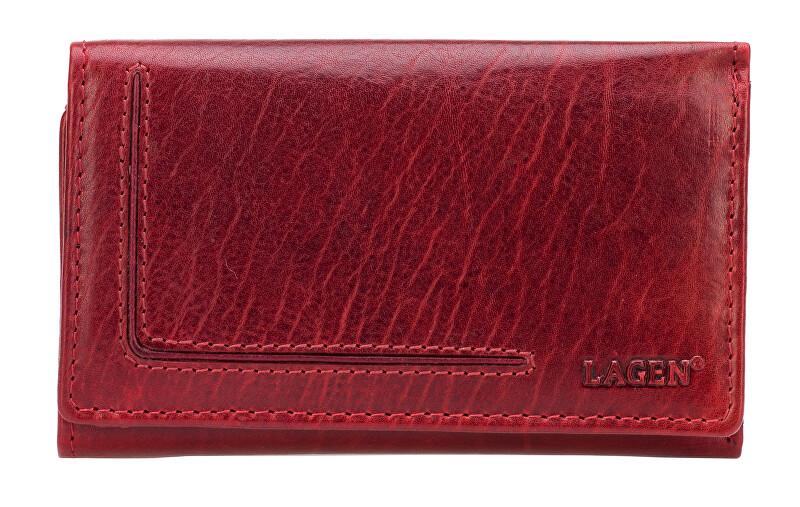 Lagen Dámská kožená červená peněženka Red HT-31/T