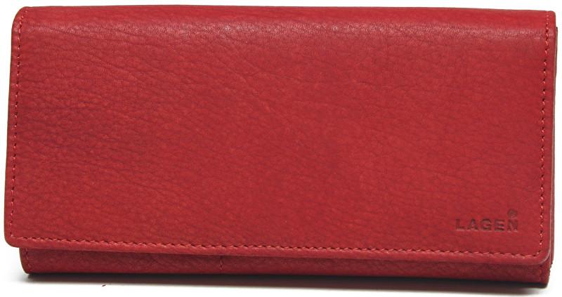Lagen Dámska kožená červená peňaženka Red V-102/W
