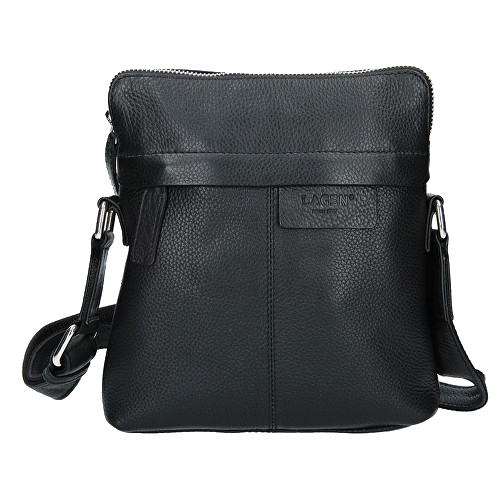 4bfa496c3e Lagen Dámska kožená crossbody kabelka CB-004 Black
