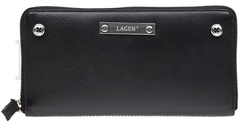 Lagen Dámska kožená peňaženka 26511 BLK