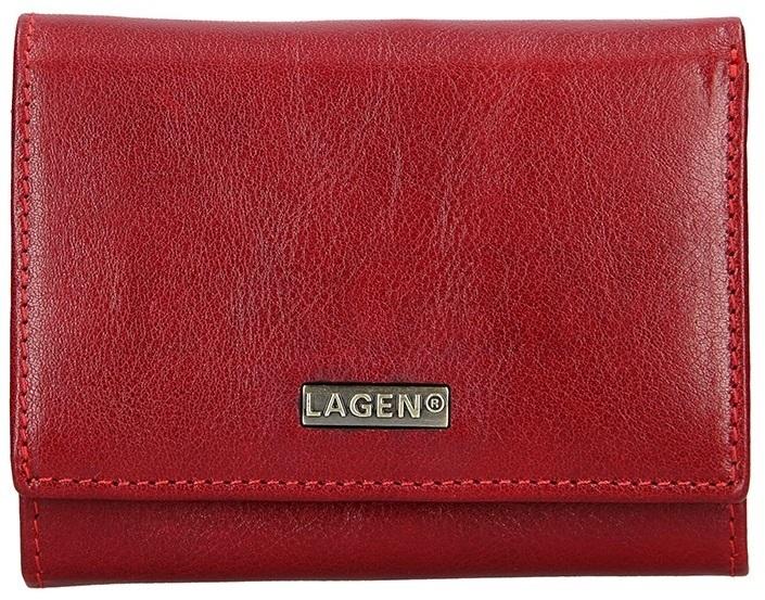 Lagen Dámska kožená peňaženka 50040 Red