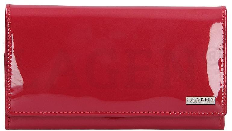 Lagen Dámska kožená peňaženka 50042 Red