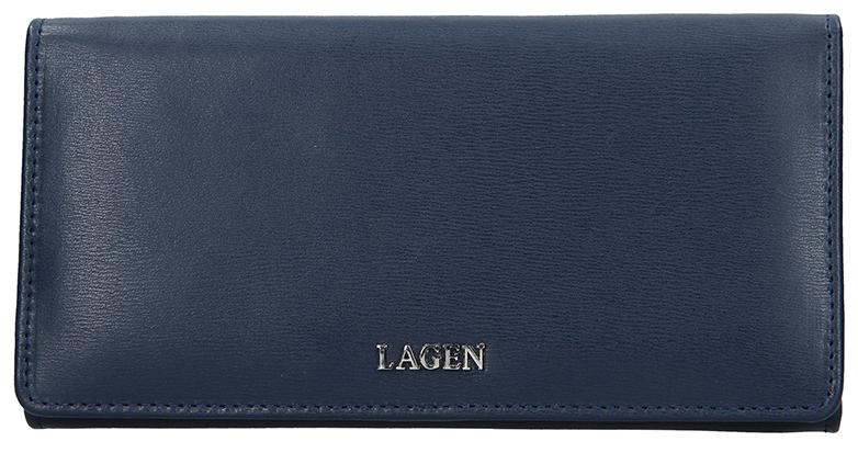 Lagen Dámska kožená peňaženka 50310 D.Blue