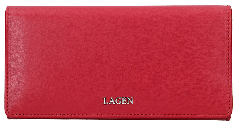 Lagen Dámska kožená peňaženka 50310 Red