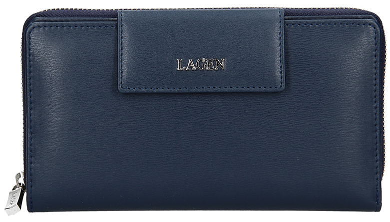 Lagen Dámska kožená peňaženka 50311 D.Blue