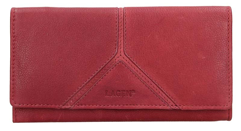 Lagen Dámska kožená peňaženka 51454 Red