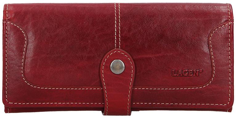 Lagen Dámska kožená peňaženka 7545/T Red