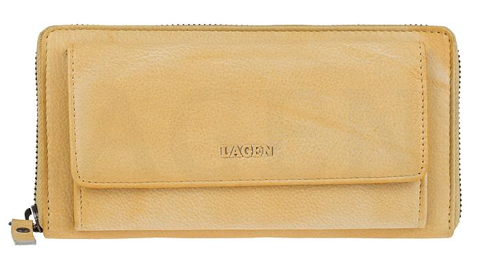 Lagen Dámska kožená peňaženka 786-017 Yellow