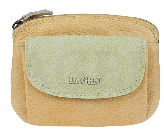 c6b003de4 Lagen Dámska kožená peňaženka 786-382 Yellow Green