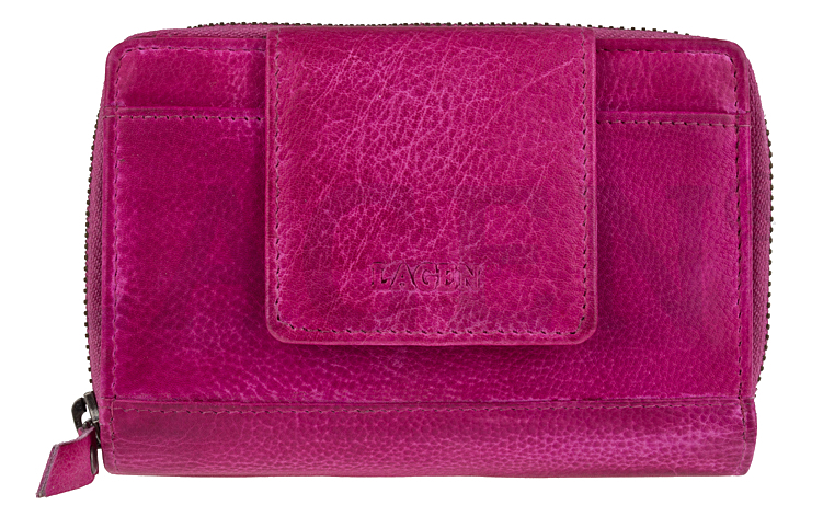 Lagen Dámská kožená peněženka 931/D Fuchsia