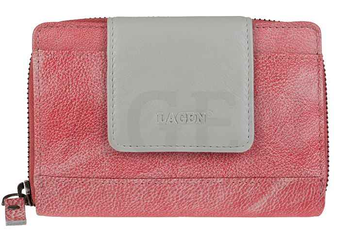 Lagen Dámska kožená peňaženka 931 Lipstick/Silver