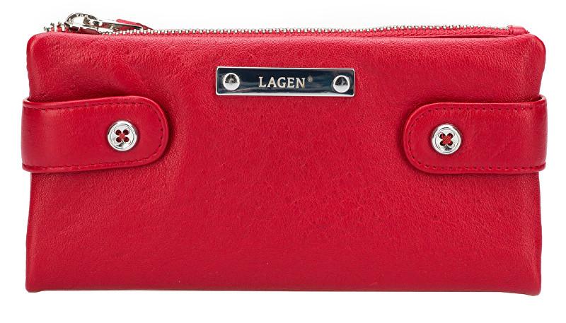 Lagen Dámská kožená peněženka 958 Red