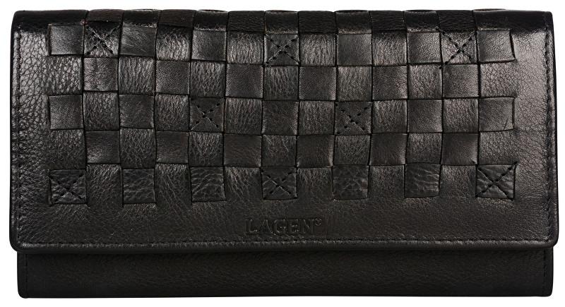 Lagen Dámska kožená peňaženka AM 7375 BLACK