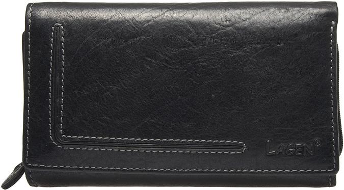 Lagen Dámska kožená peňaženka Black HT 32 / T