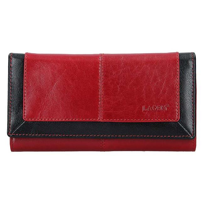 Lagen Dámska kožená peňaženka BLC-4228-219 Red/Blk
