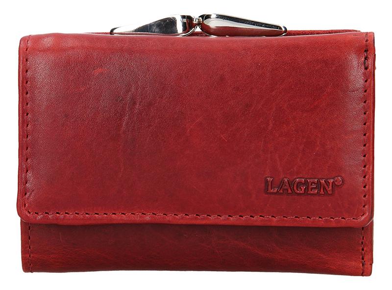Lagen Dámska kožená peňaženka HT-33 / T Red