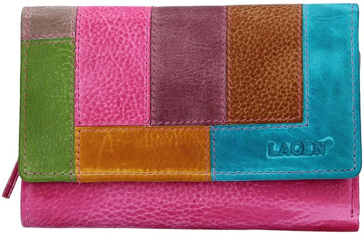 Lagen Dámska kožená peňaženka LG-11/D Fuchū/Multi