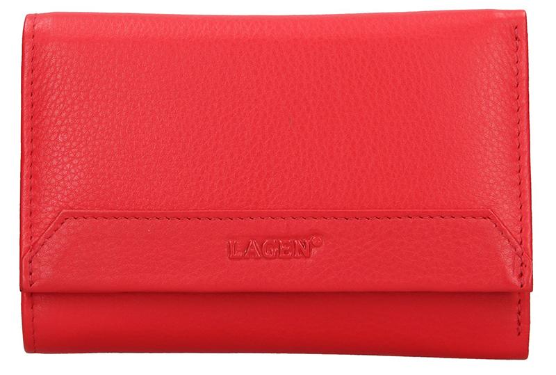 Lagen Dámska kožená peňaženka LG-11 Red