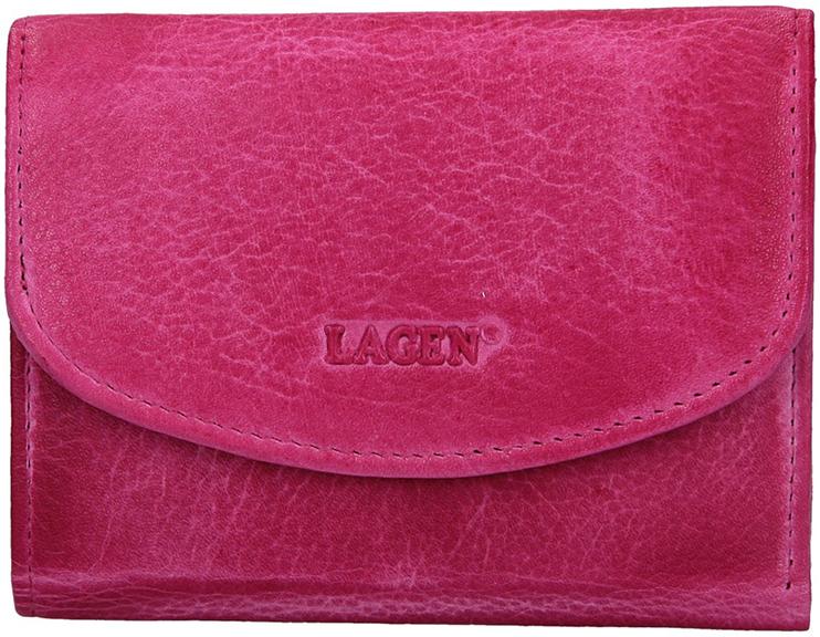Lagen Dámska kožená peňaženka LG-2522/D Fuchsia