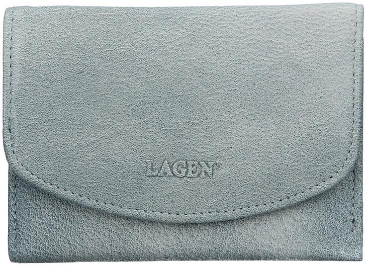 Lagen Dámska kožená peňaženka LG-2522 Ocean Blue