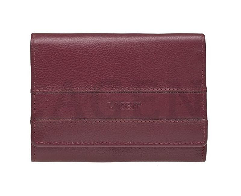 Lagen Dámska kožená peňaženka SE-068 BORDO