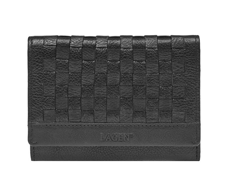 Lagen Dámska kožená peňaženka SEW-068 BLK