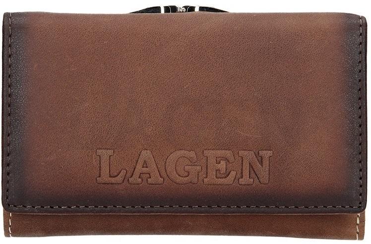 Lagen Dámska kožená peňaženka V-TPD-36 Taupe