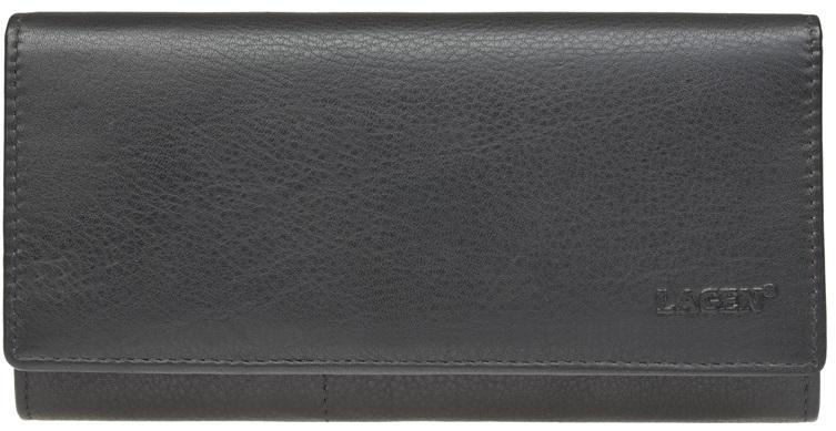 Lagen Dámska kožená peňaženka Black W-102/L
