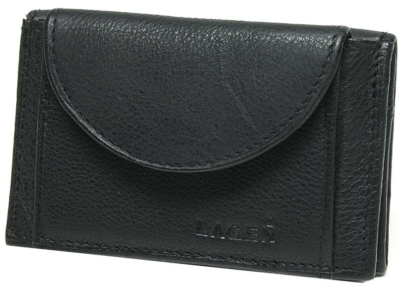 Lagen Kožená peňaženka W-2030 Black