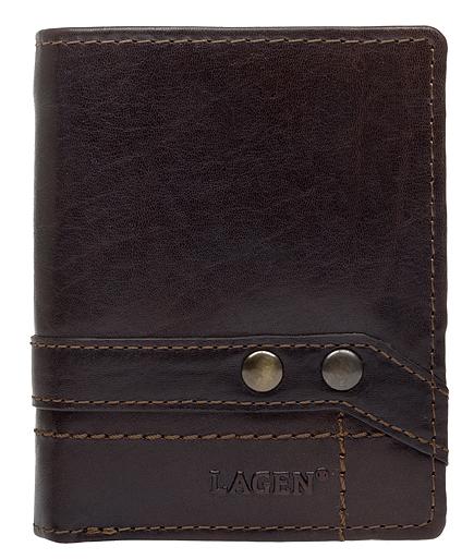 Lagen Kožená hnedá peňaženka 558 NC / T Dark Brown