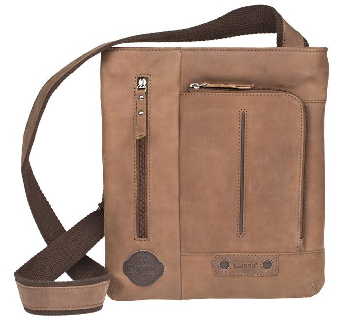Lagen Kožená hnedá taška 1415 Brown