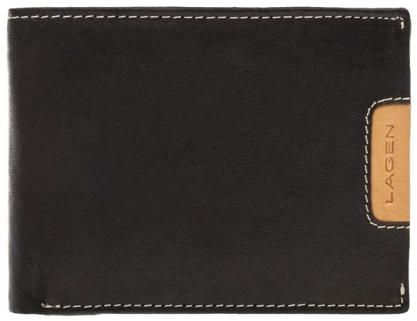 Lagen Pánska kožená peňaženka 615195 Black / Tan