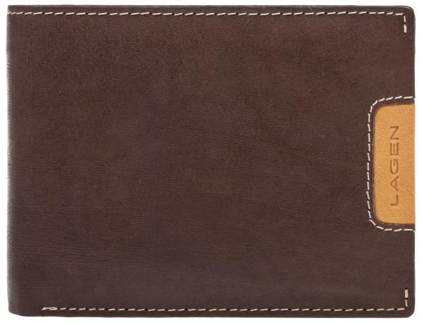 Lagen Pánska kožená peňaženka 615195 Brown / Tan