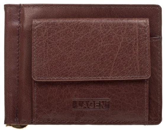 Lagen Pánska kožená peňaženka W-2010 Brown