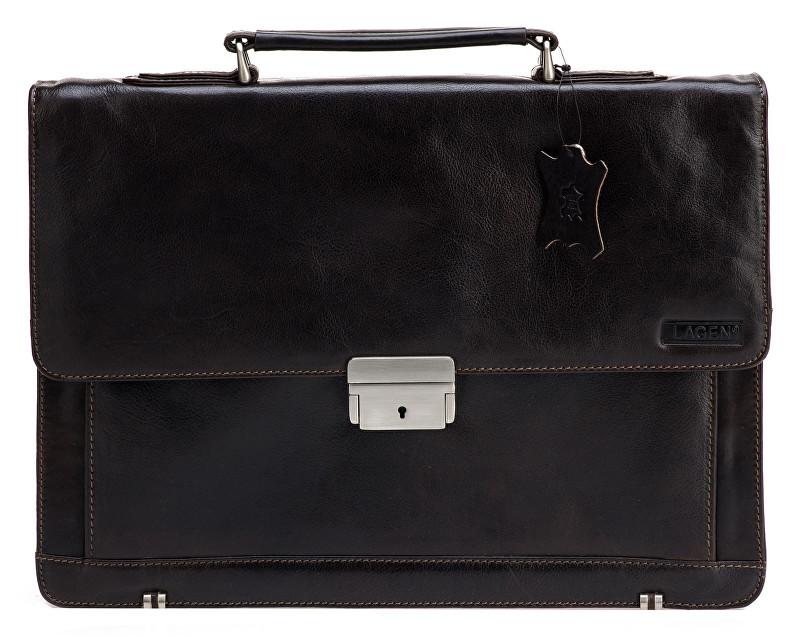 Lagen Kožená taška Dark Brown 2079/T