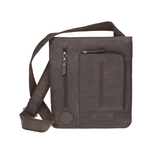 Lagen Kožená tmavo hnedá taška 1415 DarkBrown b8695628bbe
