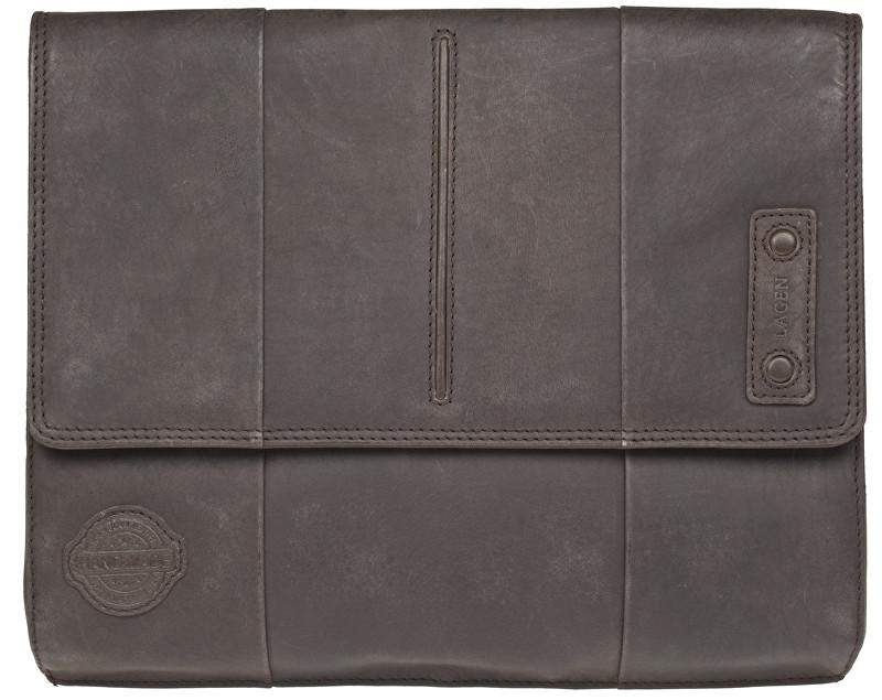 Lagen Kožená tmavo hnedá taška 1423 Dark Brown