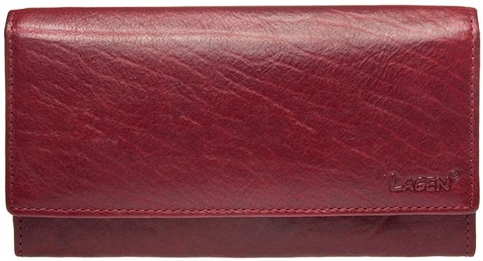 Lagen Dámska kožená peňaženka v-40/t Red