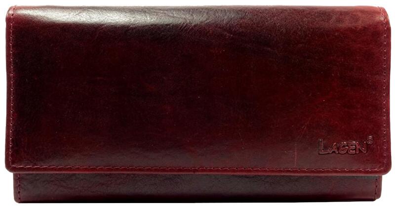 Lagen Dámska kožená peňaženka v-40/t W.Red