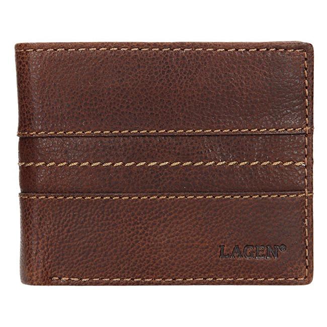 Lagen Pánska černá kožená peňaženka 3984 Tan